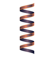 Colored ribbon vector image