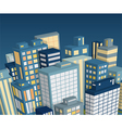 night city landscape isometric view vector image