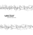 Abstract particles on white background vector image vector image