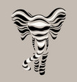 abstract silhouettes of elephant vector image
