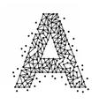 AlphabetOfPointsA vector image vector image