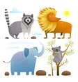 animals zoo clip art collection lion elephant vector image vector image