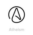 atheism religion icon editable line vector image