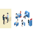 bank clients business service managers reception vector image