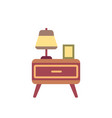 bedside cabinet flat icon vector image