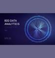 big data business intelligence technology vector image vector image