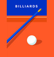 billiard sport poster vector image