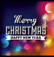 blurred lights icon merry christmas design vector image vector image