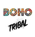 boho tribal background vector image vector image