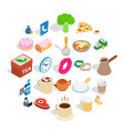 boiling icons set isometric style vector image vector image
