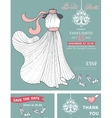 Bridal shower invitation templateBridal dress vector image