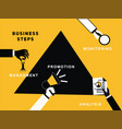 business hands with activity vector image