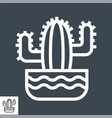 cactus thin line icon vector image vector image