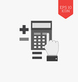 Calculation concept icon Flat design gray color vector image vector image