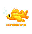 cartoon aquarium goldfish on a white background vector image