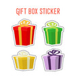 cartoon set of gift stickersadhesive paper vector image