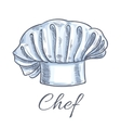 Chef hat isolated doodle sketch icon vector image vector image