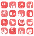 color christmas icon set vector image vector image