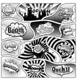 comic book black and white page template vector image vector image