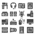 computer components related icons set vector image vector image