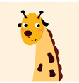 Cute cartoon giraffe isolated on dotted background vector image