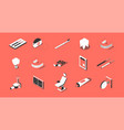 dentistry isometric set vector image vector image