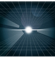 Digital cosmic white light and a grid vector image vector image