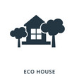 Eco house icon flat style icon design ui