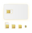 esim embedded sim card icon symbol concept new vector image vector image