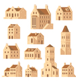 europe buildings set flat design vector image