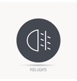 Fog lights icon Car beam sign vector image vector image