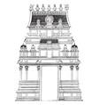 gate pyramid temple vintage engraving vector image vector image