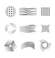 halftone and dots logo design template set vector image