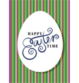 happy easter greeting card hand lettering vector image vector image