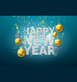 happy new year with shiny glittered vector image