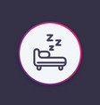hostel round icon in line style vector image