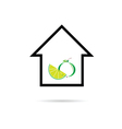 house with fruit color vector image