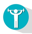 icon barbell lifter fitness design vector image vector image