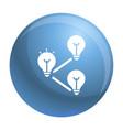 idea bulb interaction icon simple style vector image