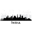 india city skyline silhouette with black vector image vector image