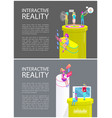 interactive reality activities vector image vector image