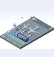 isometric airport vector image vector image
