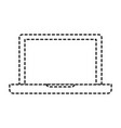 laptop computer icon in monochrome dotted vector image vector image