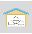 laptop technology clouds icon graphic vector image vector image