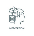 meditation line icon linear concept vector image vector image