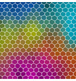 mosaic green blue pink pattern texture background vector image vector image