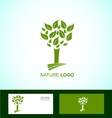 Nature tree bio eco logo vector image vector image