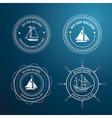 nautical label3 vector image