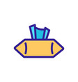 pack dry wipes side view icon outline