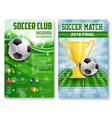 posters of football soccer cup match vector image vector image